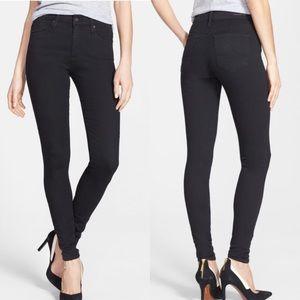 AG The Farrah High Rise Black Skinny Jeans